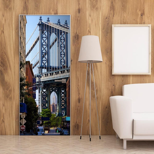 Carta da parati per porte - New York: Bridge