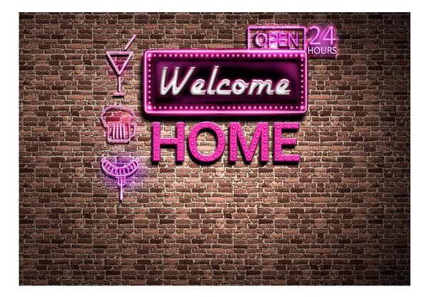 Carta da parati con scritte - Welcome home