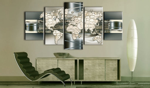 Quadro mappamondo - See the World in Stone