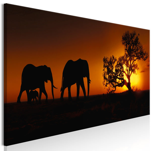 Quadro - Elephant Family (Orange)