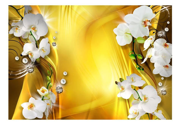 Carta da parati - Orchid in Gold