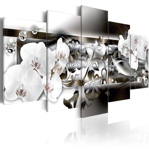 Quadro - Orchidee immerse in platino