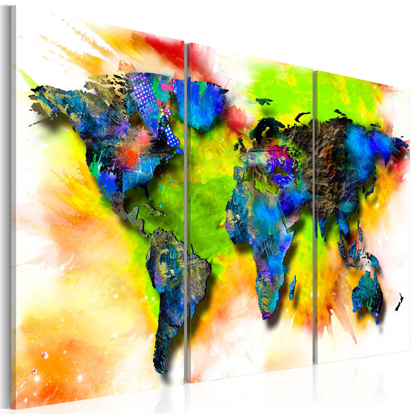 Quadro - Painted continents