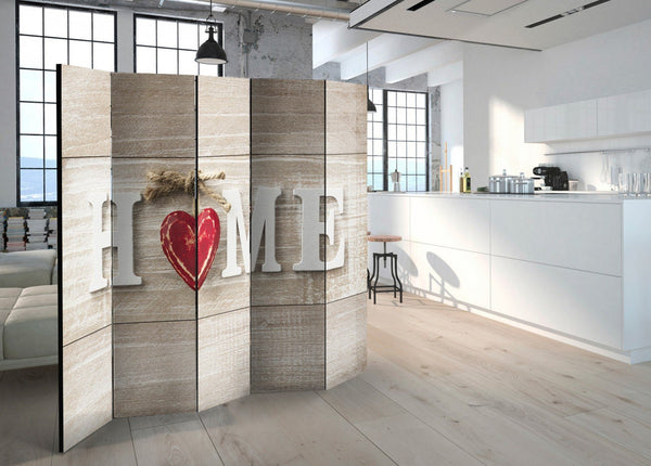 Separè per interni - Room divider - Home and red heart