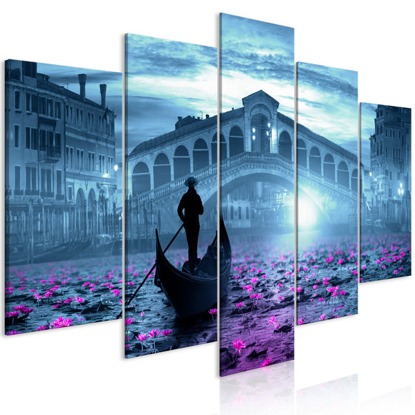 Quadro - Magic Venice (5 Parts) Wide Blue