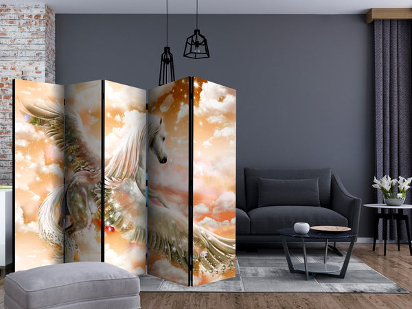 Paravento - Pegasus (Orange) II [Room Dividers]