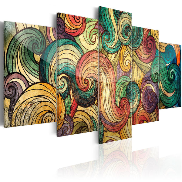 Quadro su tela - Colourful Waves