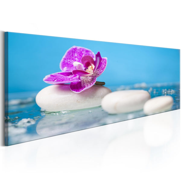 Quadro - Pink Orchid and white Zen Stones
