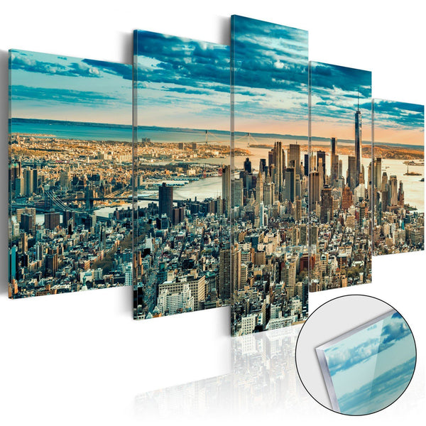 Quadro su vetro acrilico - NY: Dream City [Glass]