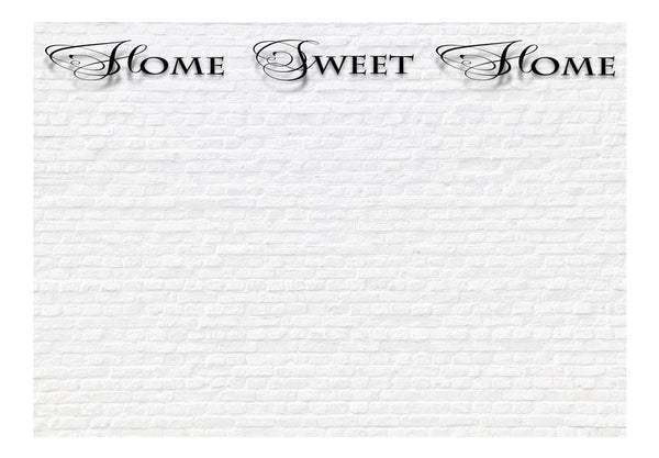 Carta da parati con scritte - Home, sweet home - white wall