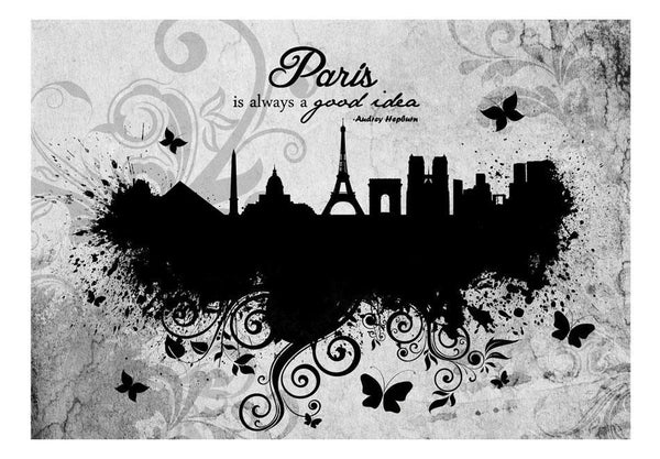 Carta da parati - Paris is always a good idea - black and white
