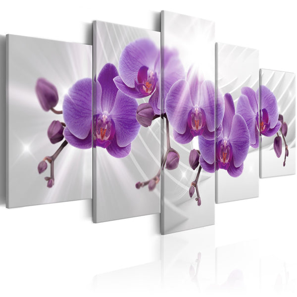 Quadro - Abstract Garden: Purple Orchis