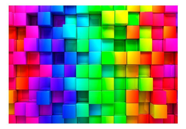 Carta da parati 3D - Colourful Cubes