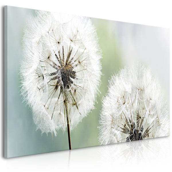 Quadro - Fluffy Dandelions (1 Part) Green Wide