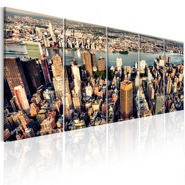Quadro su tela - Flight over New York