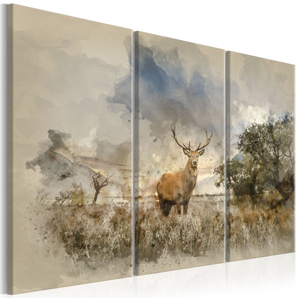 Quadro moderno su tela - Deer in the Field I