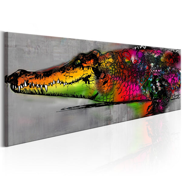 Quadro moderno su tela - Colourful Alligator