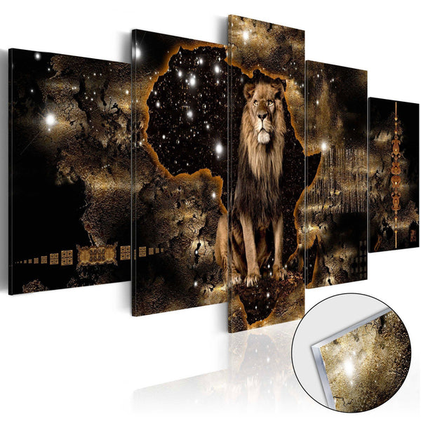 Quadro su vetro acrilico - Golden Lion [Glass]