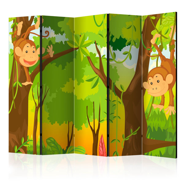 Separè per interni - Jungle - Monkeys II [Room Dividers]