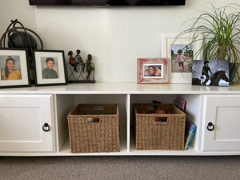 Baskets To Tidy The Living Room