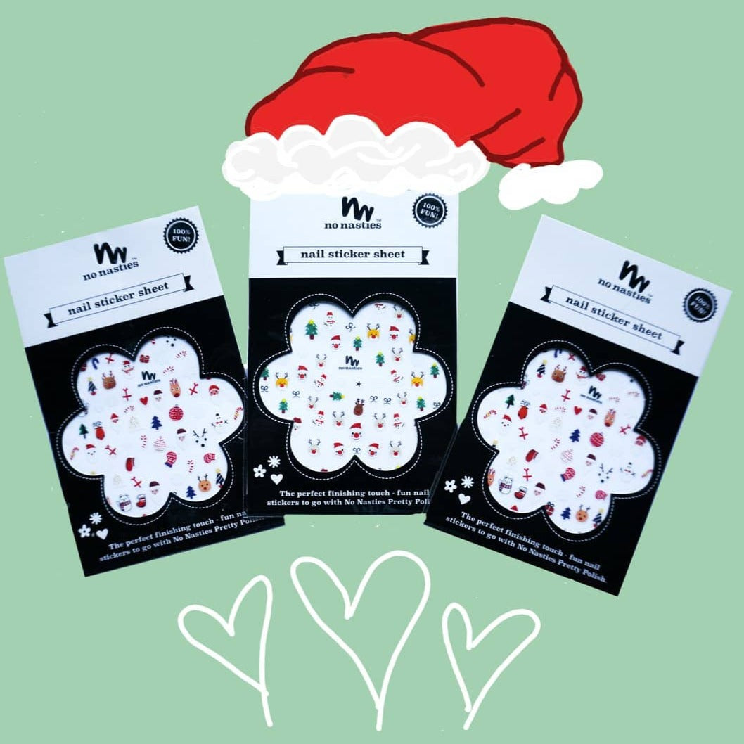 Three pack Christmas style Nail Stickers