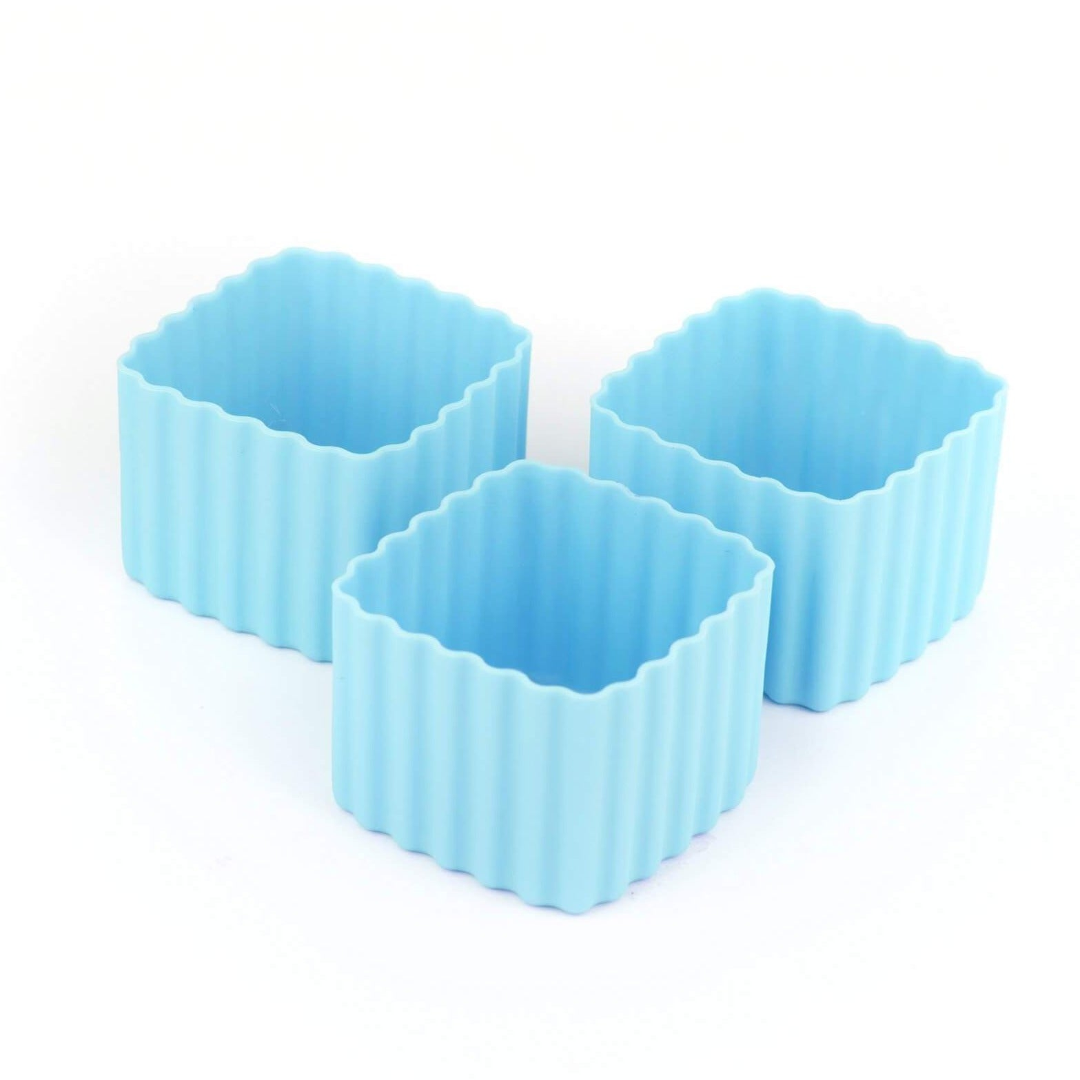 Bento Cups Square 3 Pack Light Blue