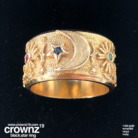 Black star CrownZ ring