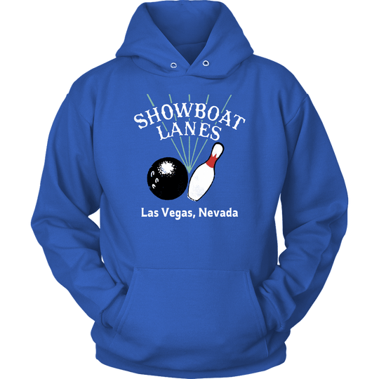 Showboat Lanes  - Vintage Bowling Alley Hoodie