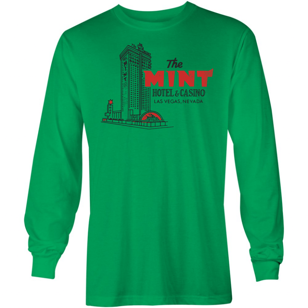 The Mint Hotel and Casino - Vintage Las Vegas - Long Sleeve T-Shirt