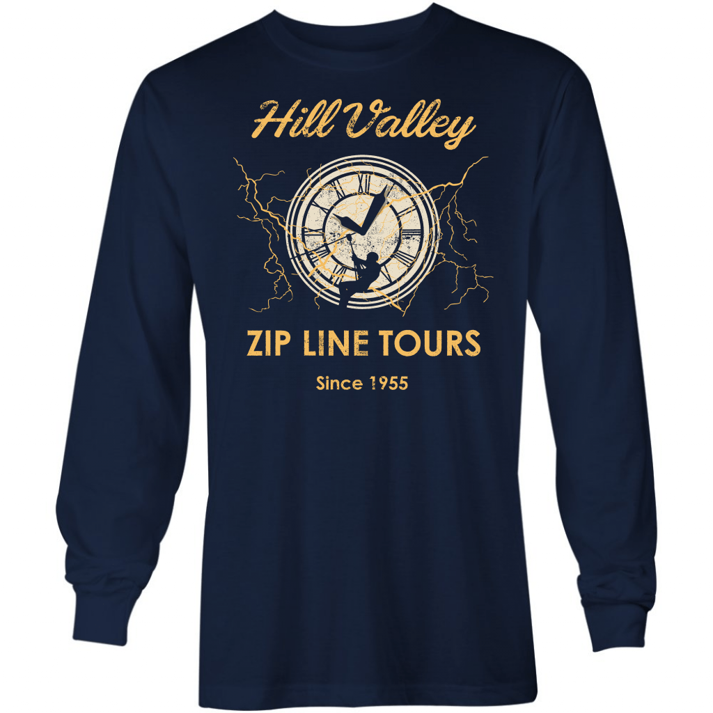 Hill Valley Zip Line Tours - Long Sleeve T-Shirt