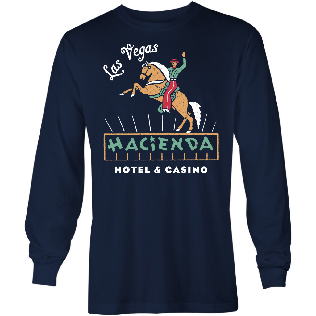 Hacienda Hotel & Casino - Vintage Las Vegas - Long Sleeve T-Shirt