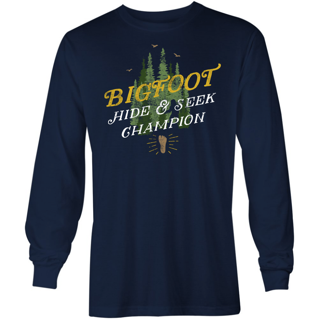 Big Foot - Hide & Seek Champion - Long Sleeve T-Shirt