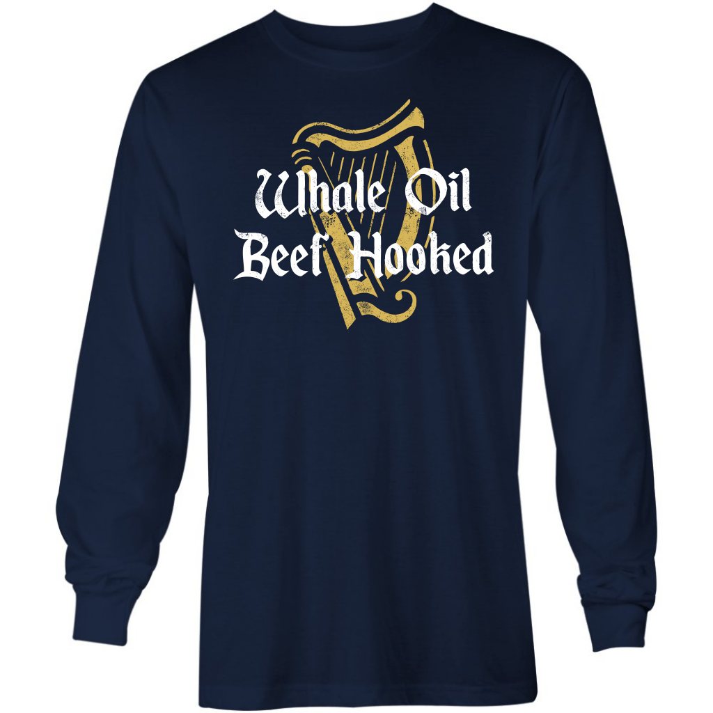 Whale Oil Beef Hooked - Long Sleeve T-Shirt