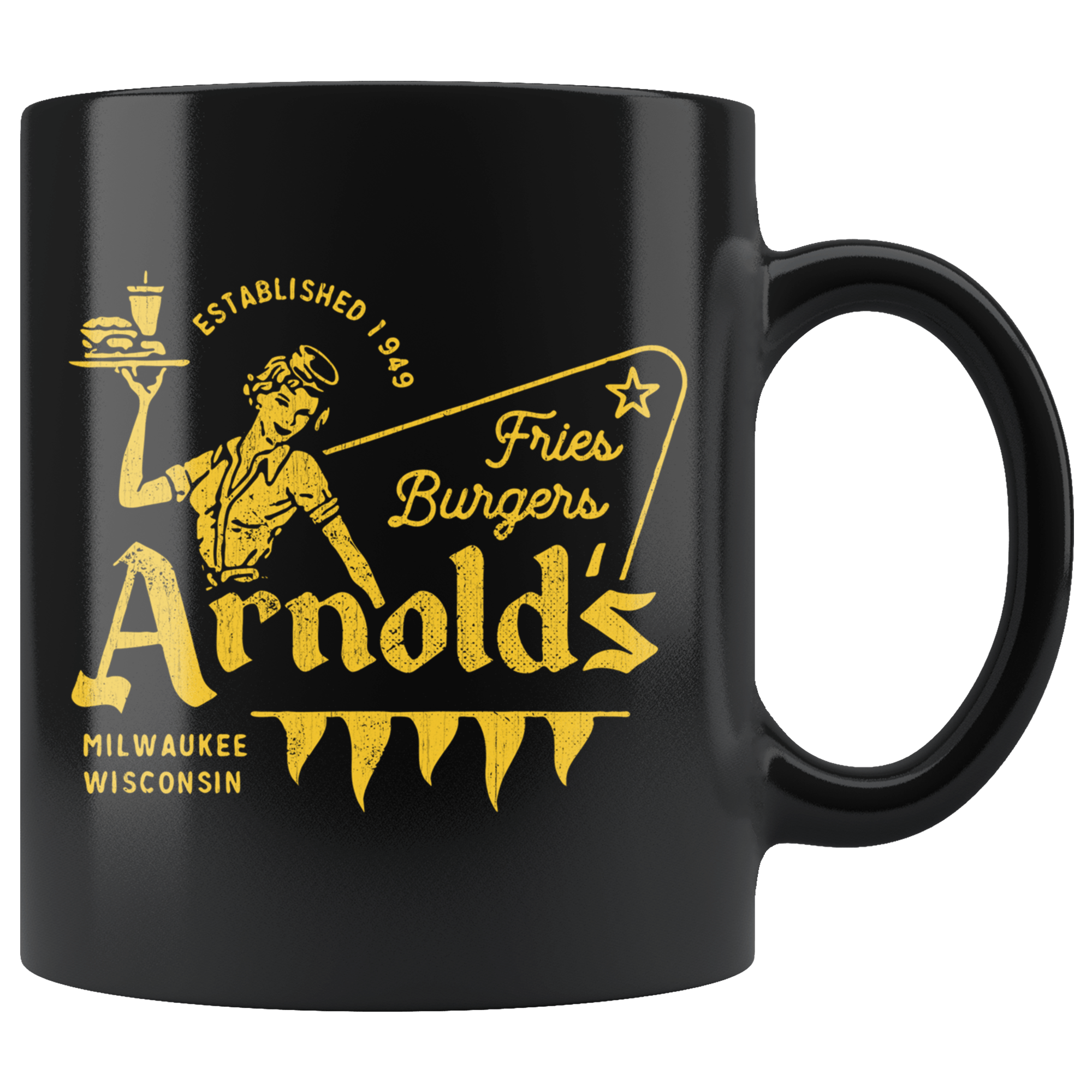 Anrold's Drive-In - Black 11oz Mug
