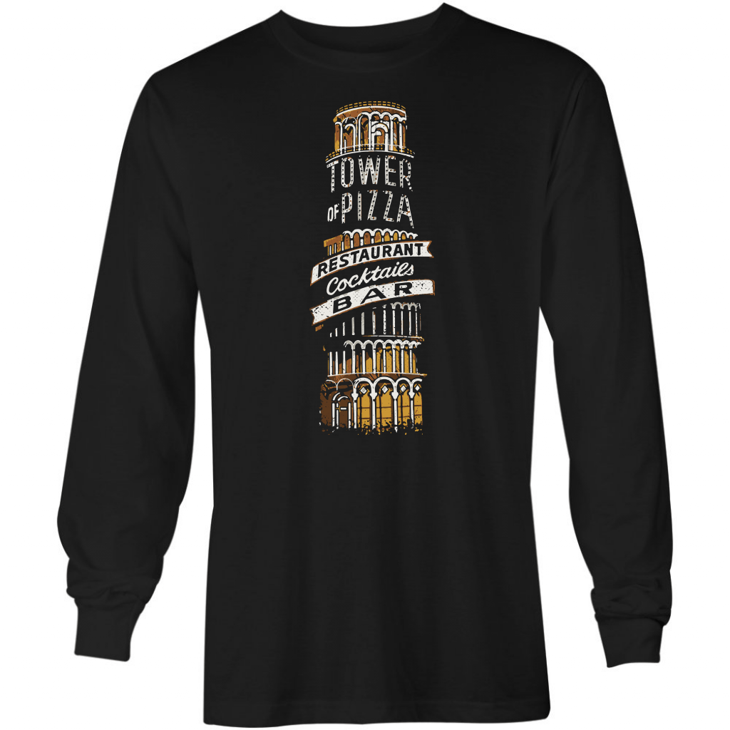 Tower Of Pizza - Vintage Las Vegas - Long Sleeve T-Shirt