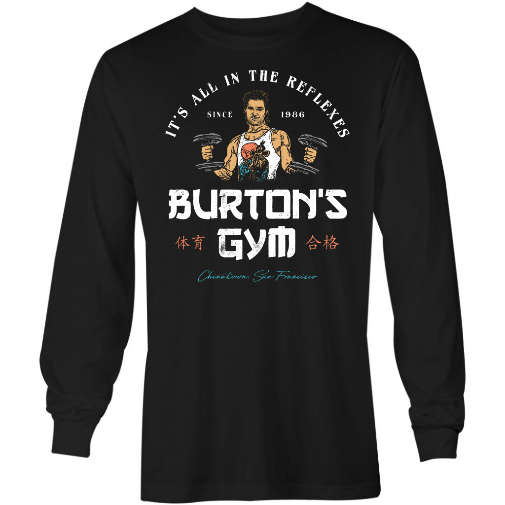Burton's Gym - Long Sleeve T-Shirt