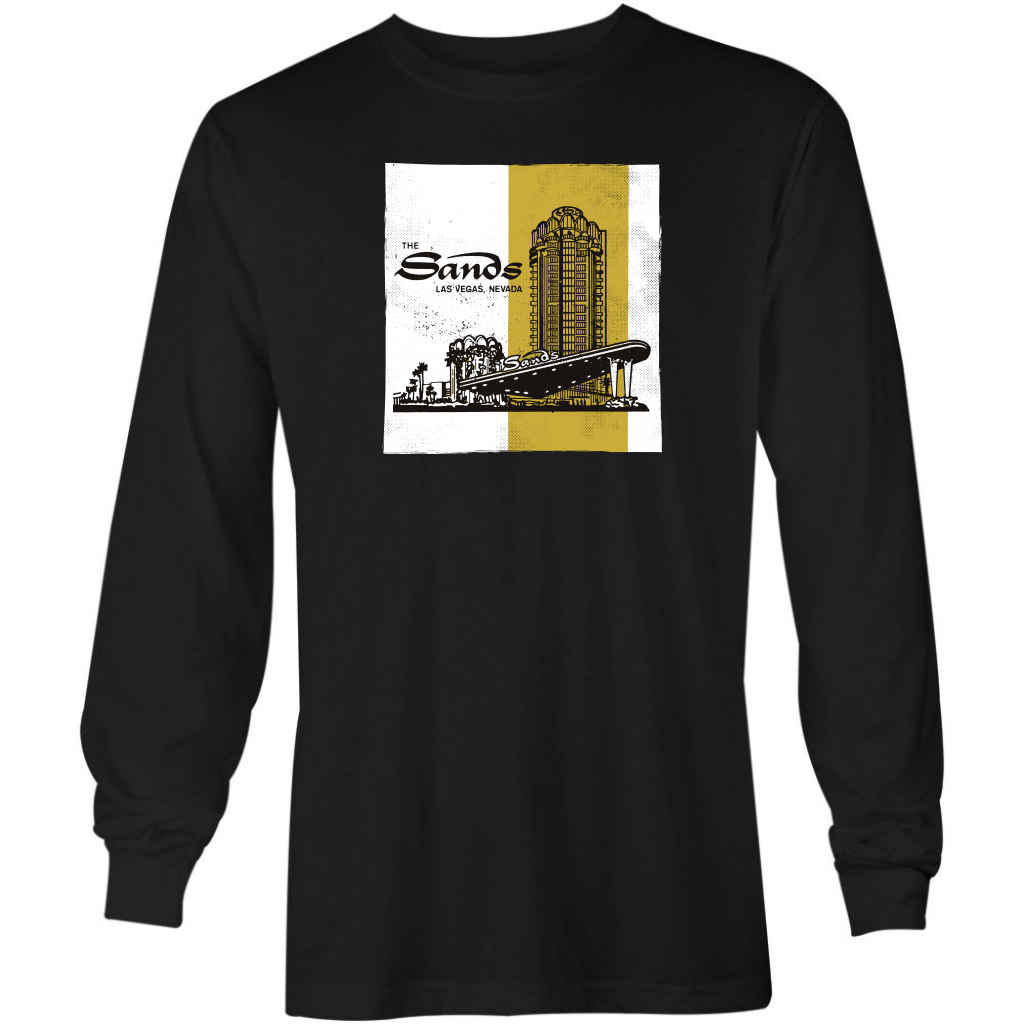 The Sands Exterior - Vintage Las Vegas - Long Sleeve T-Shirt