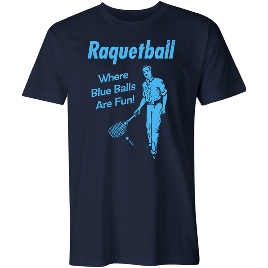 Raquetball Where Blue Balls Are Fun