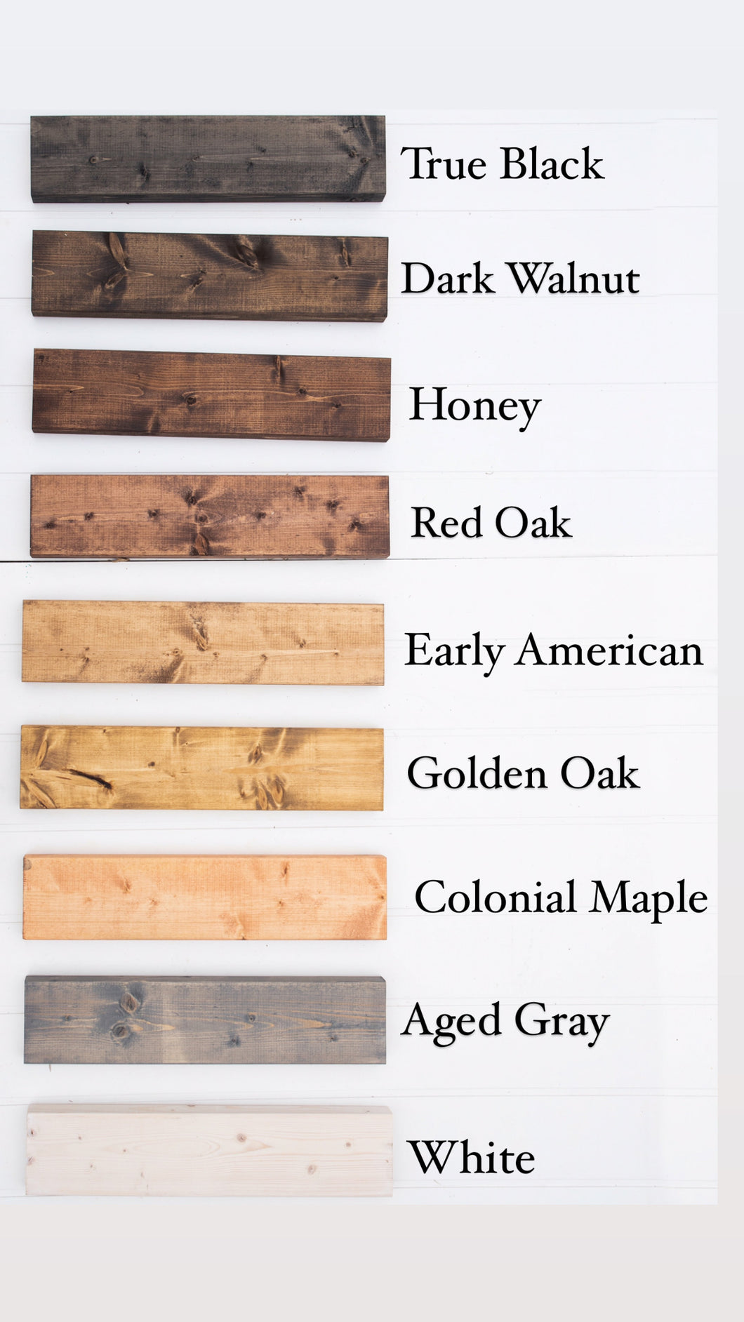Sign Stain Choices