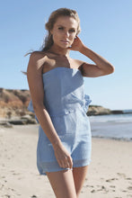 Harper Blue Strapless Playsuit