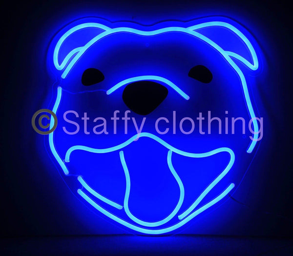 Staffy Head Neon -  By Staffy Clothing