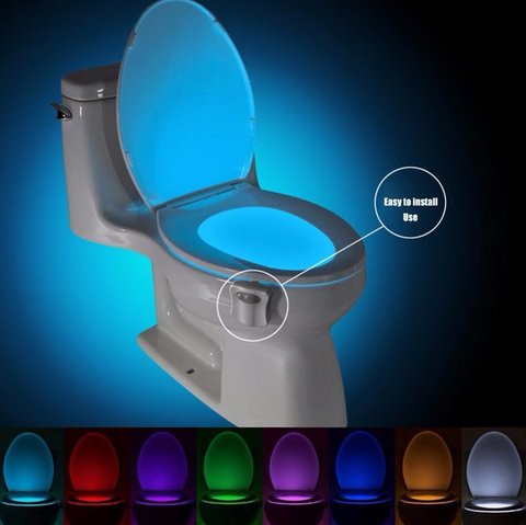 Motion Sensor Toilet Seat BackLight 8 Colors