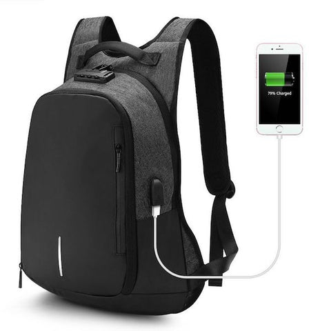 Anti-theft backpack with portable USB port
