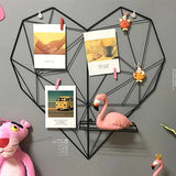 Heart-shaped Photo Grid and Jewelry Hanger