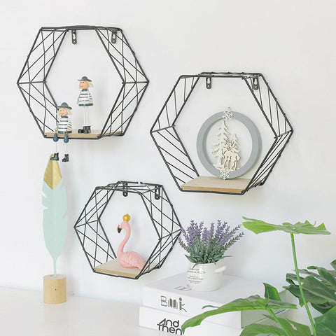 Multi-functional Hexagonal Grid Shelf