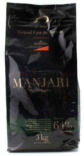 Valrhona Dark Chocolate - 64% Cacao - Manjari Feves