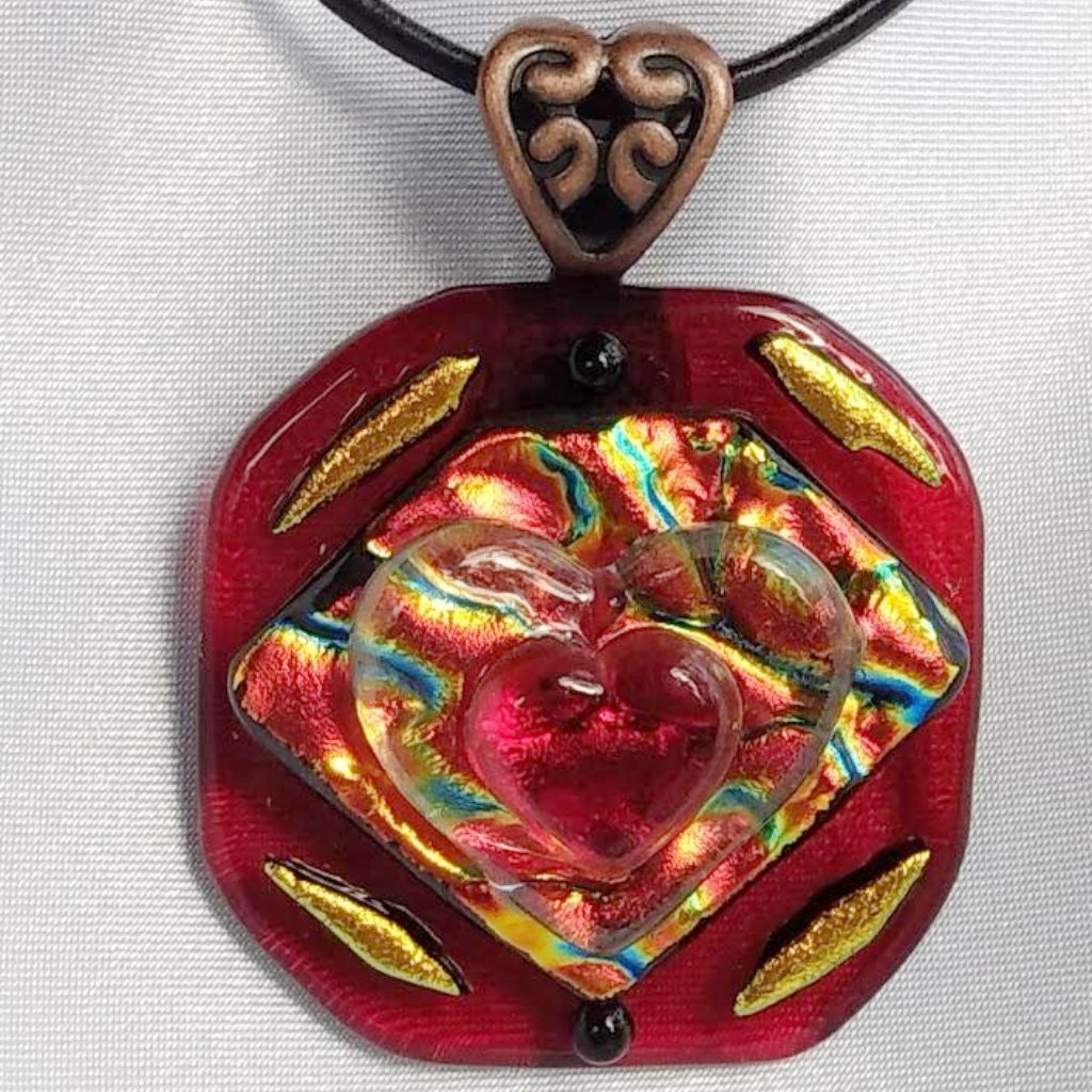 jewelry pendant rainbow scenic layer fused dsc the glass giraffe products