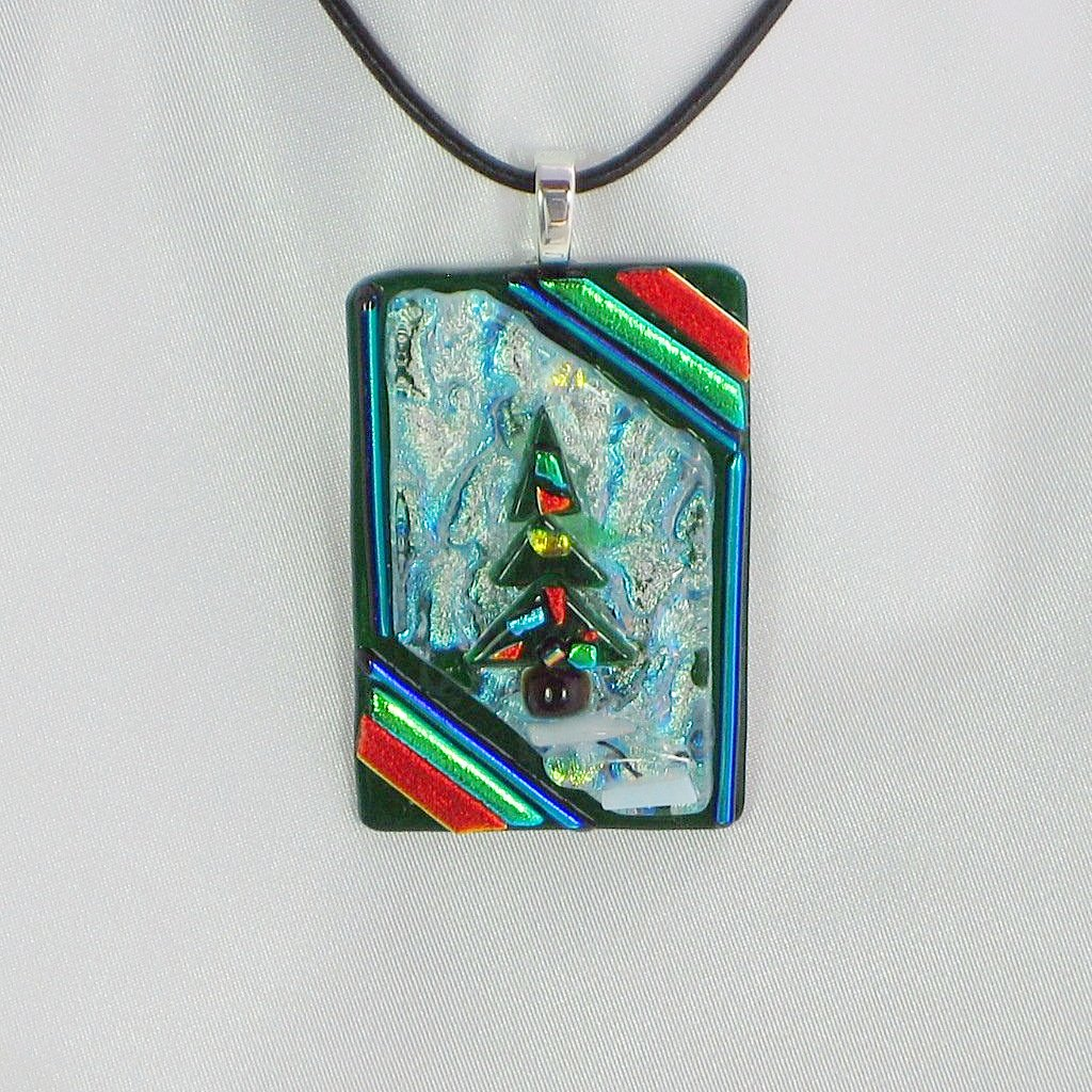 and fused products brown blue stone pendant effect fired glass creations