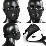 Reusable Face Mask w/Exhale valves and Carbon Filtered Pads