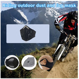 Black Reusable Mesh Face Mask w/Exhale valves and 3 Carbon Filtered Pads
